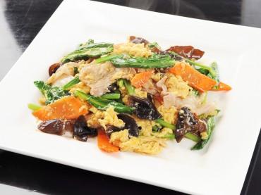 唐人酒家-豚肉、木耳と玉子の炒め